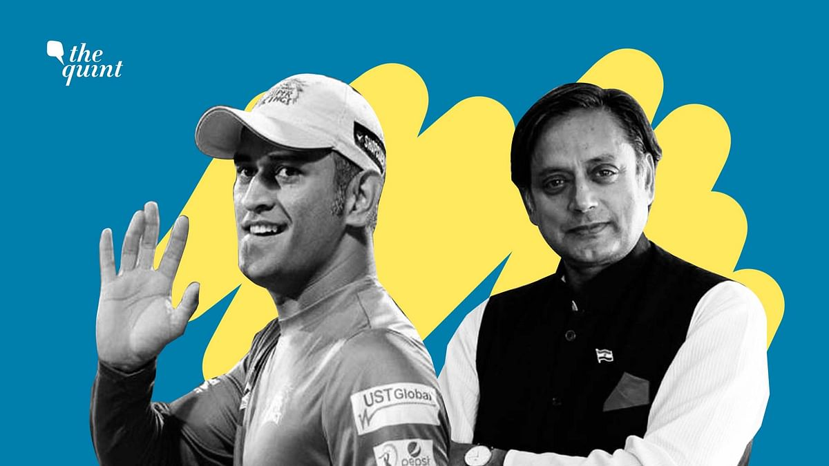 Image of MS Dhoni (L) and Dr Shashi Tharoor (R) used for representational purposes.