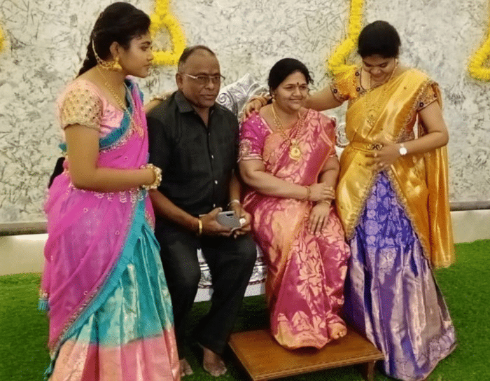 Murthy's wife MVK Madhavi, along with her two daughters, was travelling to Tirupati when they met with an accident.