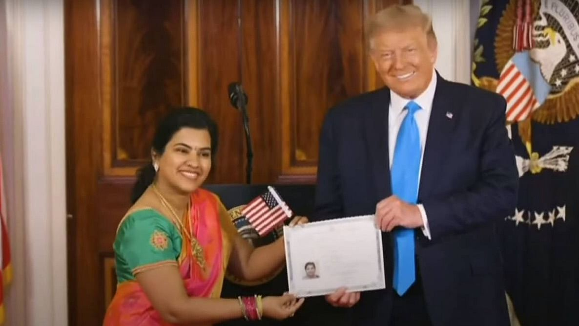 Software engineer Sudha Sundari Narayanan was naturalised as a US Citizen at The White House on 25 August.