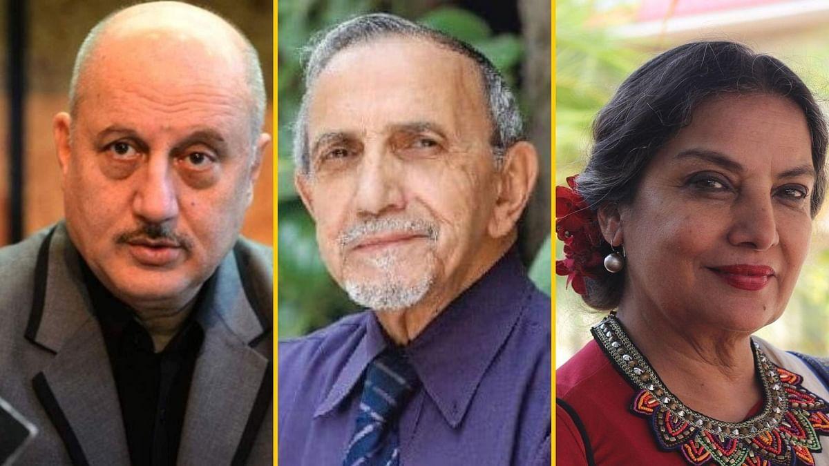 Shabana Azmi, Anupam Kher mourn Ebrahim Alkazi's demise.
