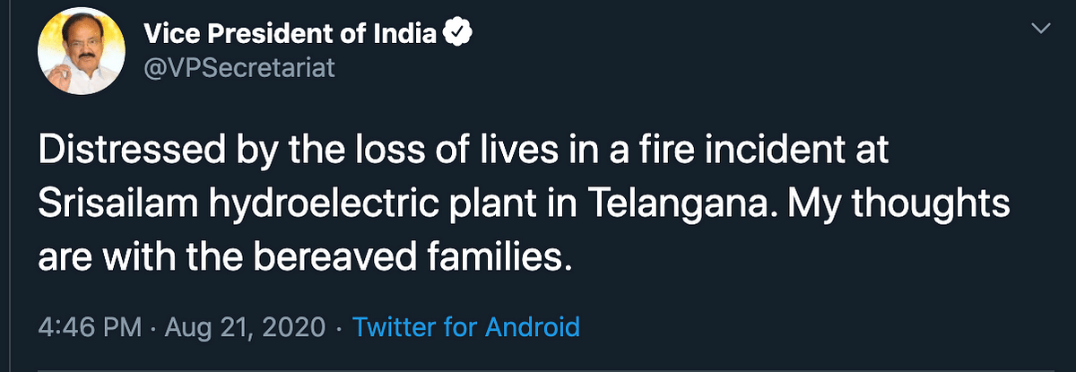 9 Dead in Telangana Power Plant Fire; PM Says 'Deeply Unfortunate'