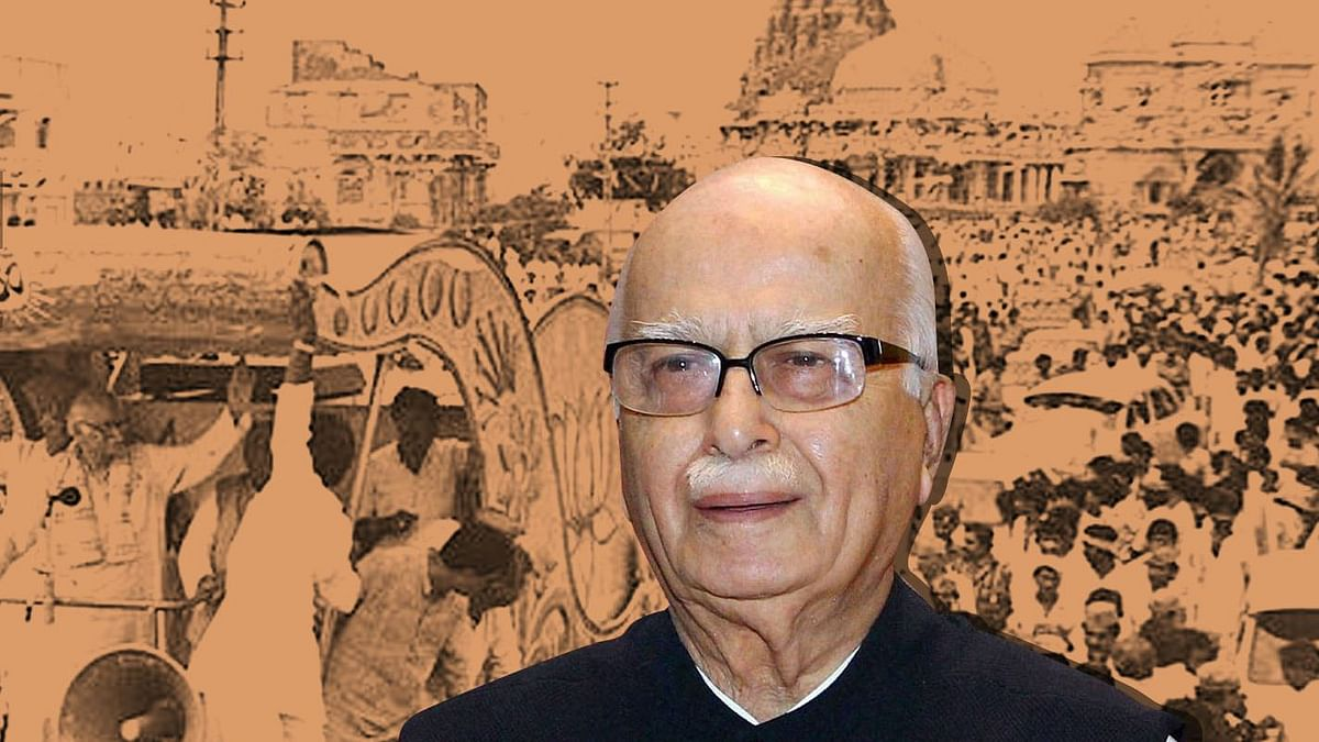 LK Advani led the Rath Yatra in the 1990s that led to the demolition of Babri Masjid.