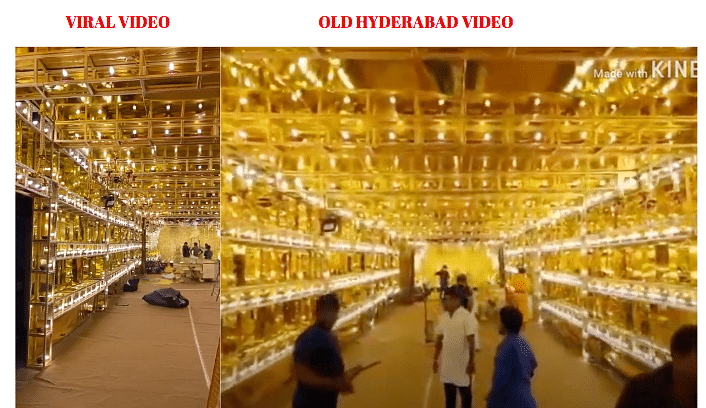 Left: Viral video. Right: Old Hyderabad video uploaded on YouTube.