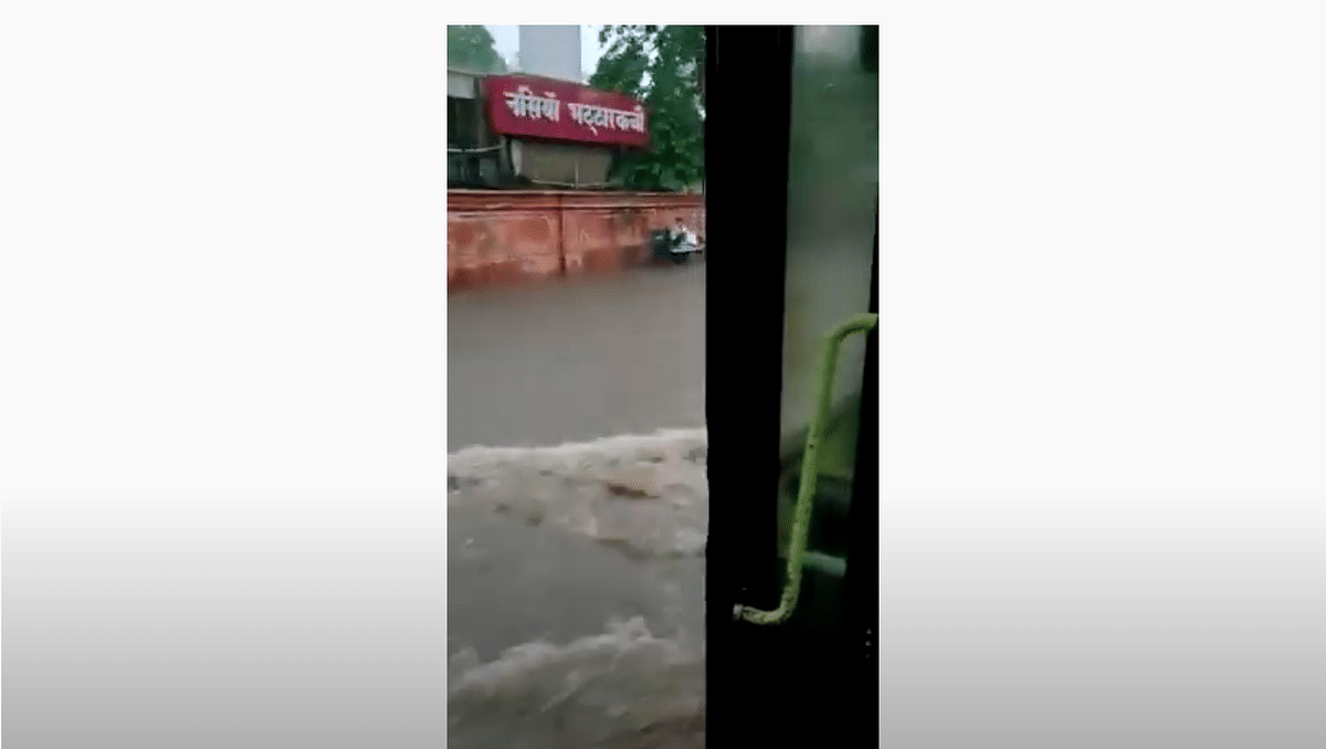 Video From Jaipur Shared as Condition of Delhi Bus During Monsoon