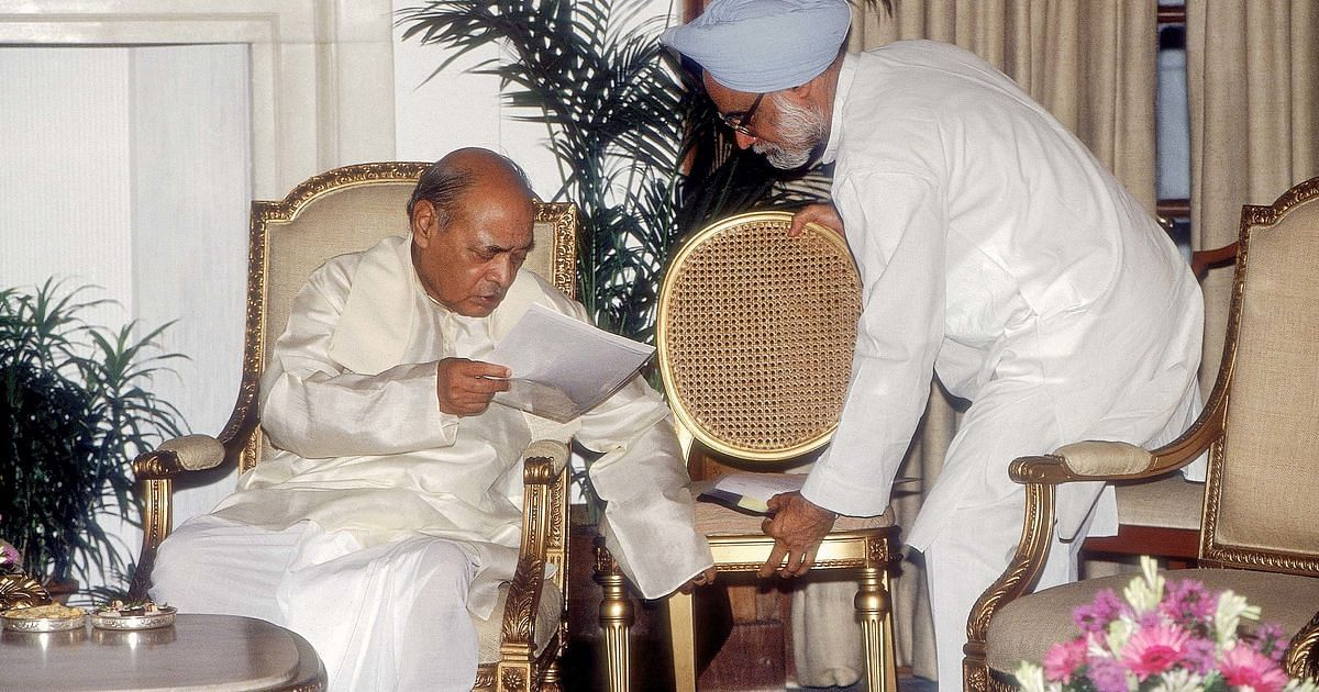 Archival image of Dr Manmohan Singh (R) and PV Narasimha Rao. Image used for representational purposes.