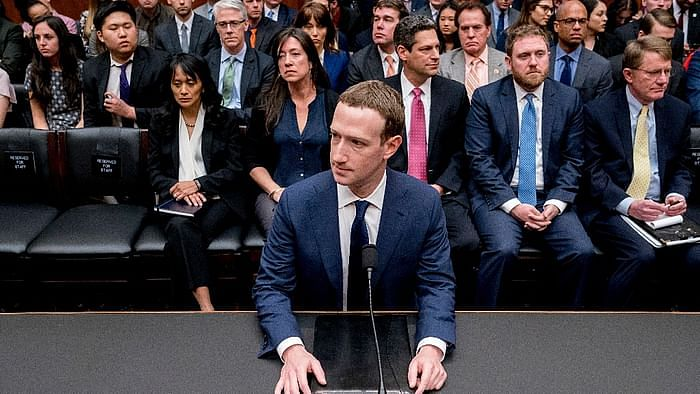 Facebook CEO Mark Zuckerberg's testimony in front of the European Parliament in 2018.