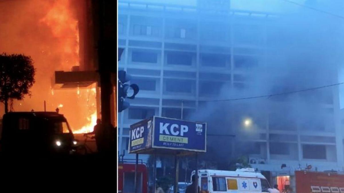 Fire at COVID Facility Kills 10; AP Govt Blames Hotel & Hospital