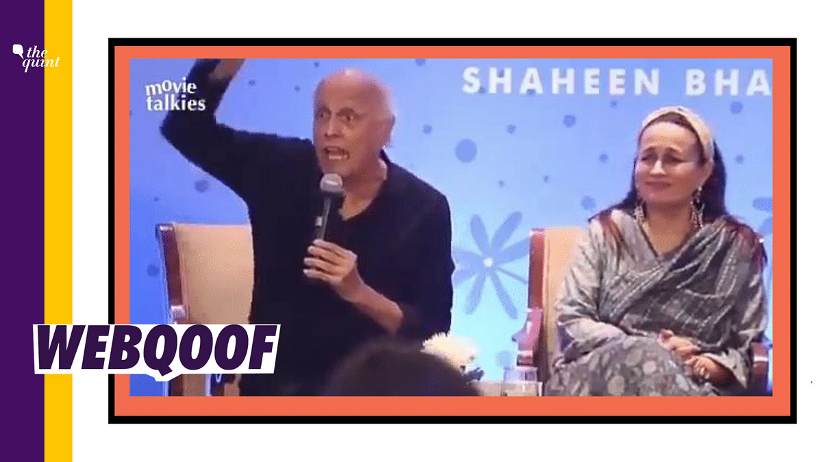 Mahesh Bhatt Lashing Out over Dislikes for Sadak 2? Nope, Old Clip