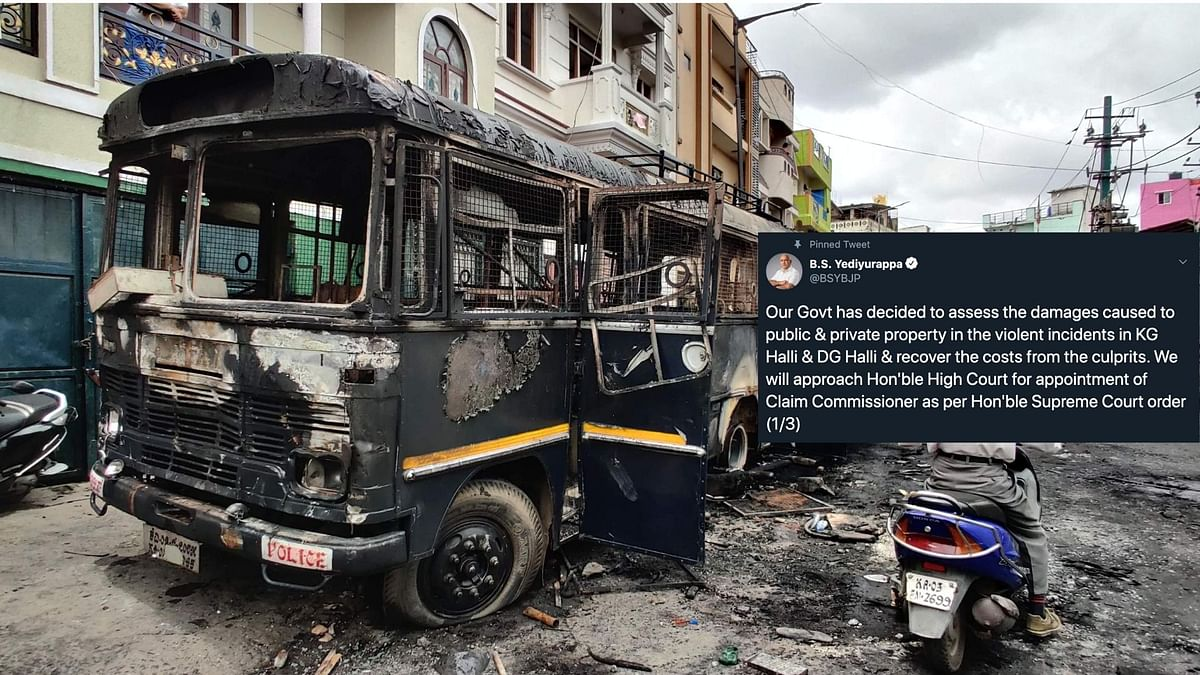 """""""Stringent action has been initiated against the culprits, including invoking of the UAPA,"""" CM Yediyurappa tweeted."""