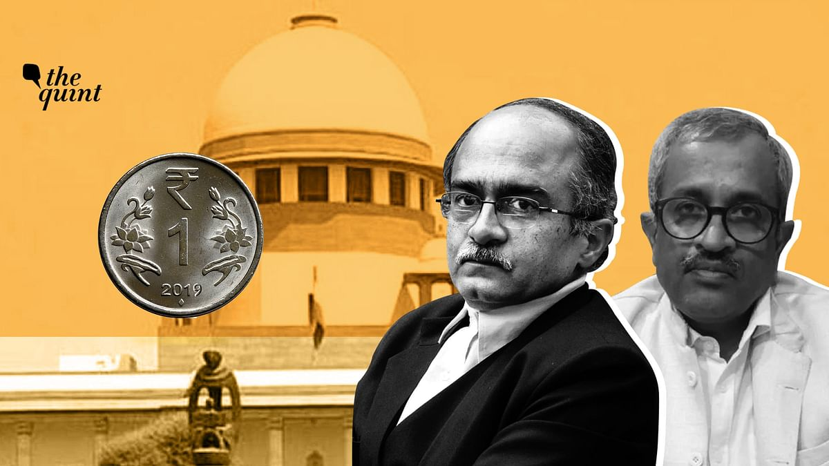 Senior advocate Sanjay Hegde (R) talks about the Re 1 fine imposed by the Supreme Court on Prashant Bhushan for contempt.