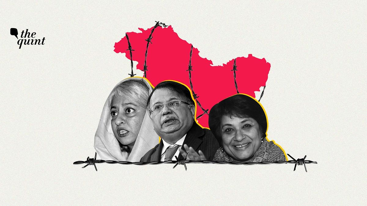 From L-R: Radha Kumar, Justice AP Shah and Enakshi Ganguly, members of the Forum For Human Rights in Jammu and Kashmir.