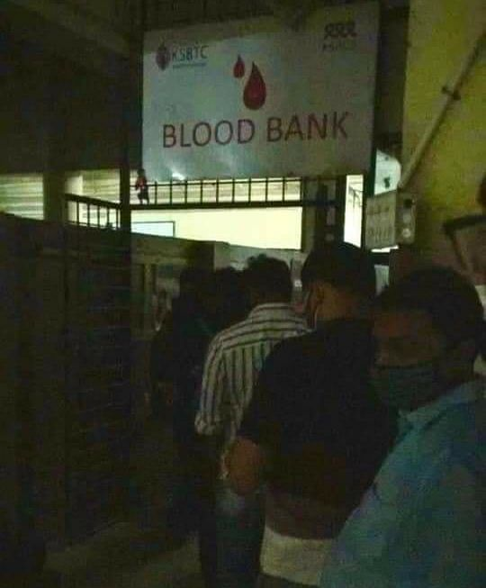Within minutes, there was a long line of volunteers at the blood bank at Kozhikode Medical College.