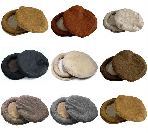 Traditional handwoven woollen Chitrali Pakol caps