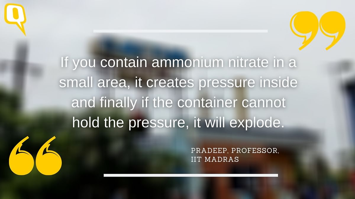 Why Chennai Must Safely Dispose of 740 Tonnes of Ammonium Nitrate