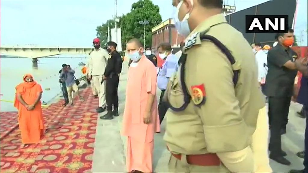 UP chief Minister Yogi Adityanath at Ram Ki Paudi.