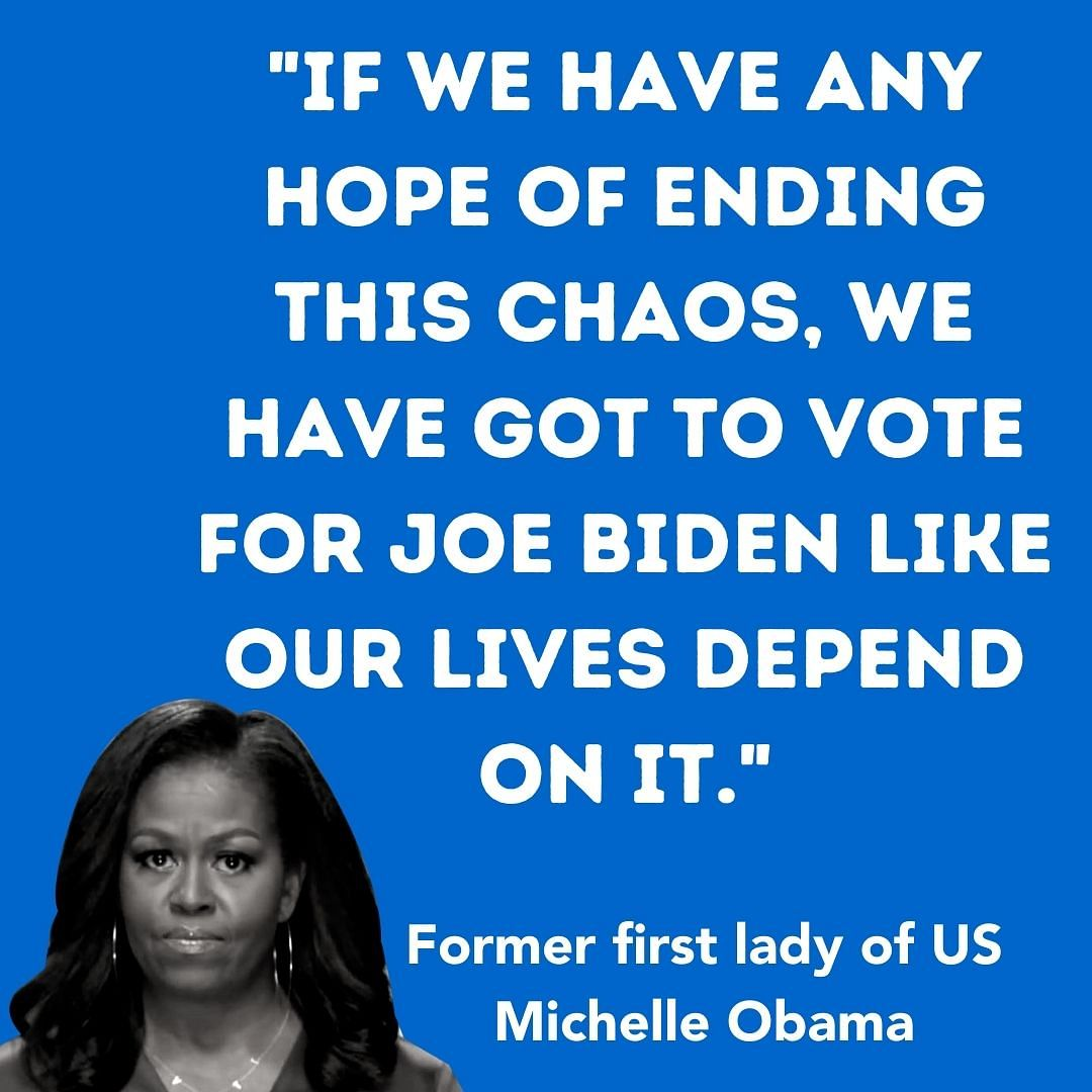 'Vote for Joe Biden Like Our Lives Depend on It': Michelle Obama