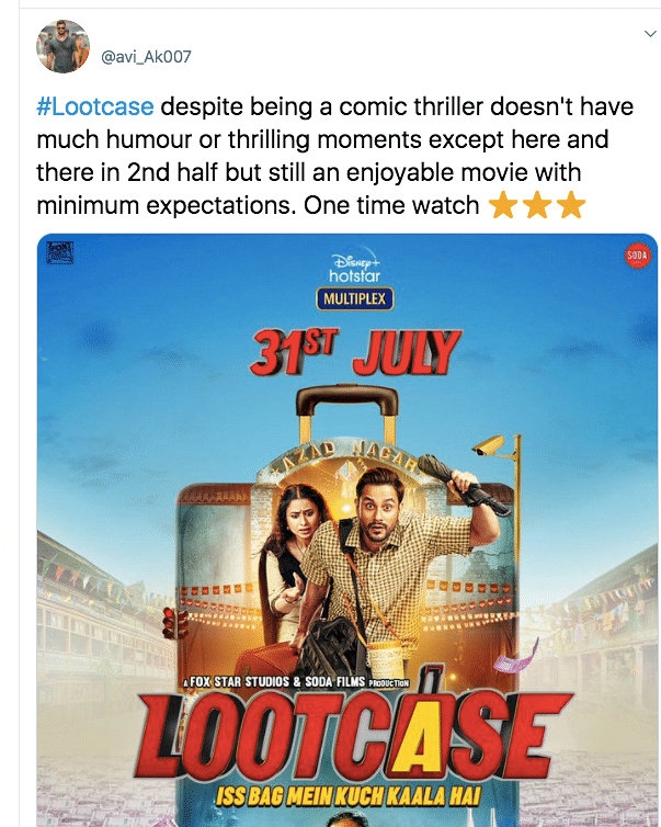 Stellar Performances: Twitter Gives Thumbs Up to 'Lootcase'