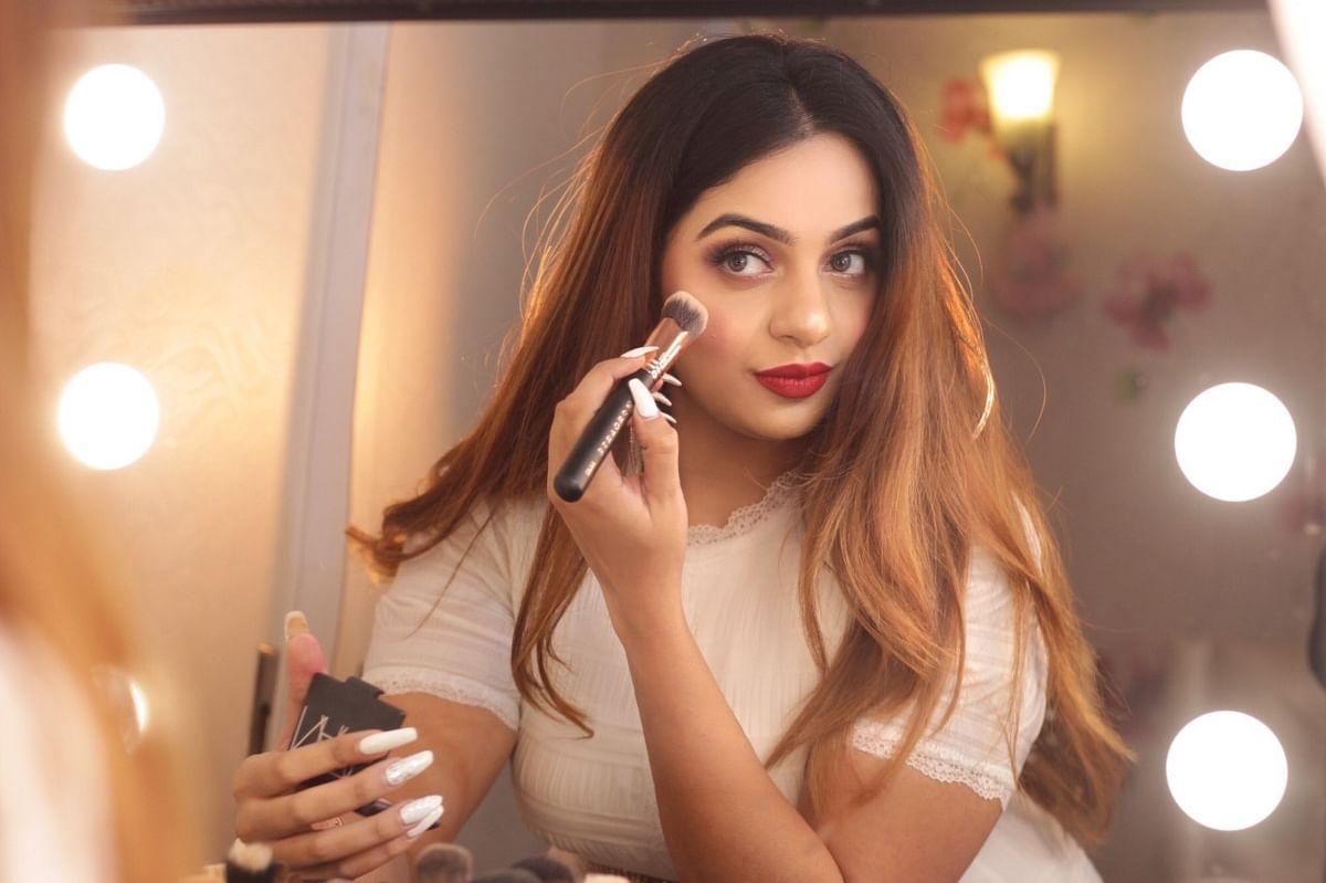 Makeup artist Shreya Bhandari.