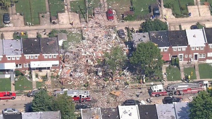 A gas explosion in Maryland's Baltimore in US destroyed three houses in which at least one person was killed and several others were injured on Monday, 10 August.