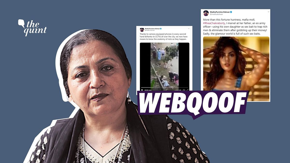 Madhu Kishwar, who made headlines for her misogynistic remarks against Rhea, has a history of sharing misinformation.