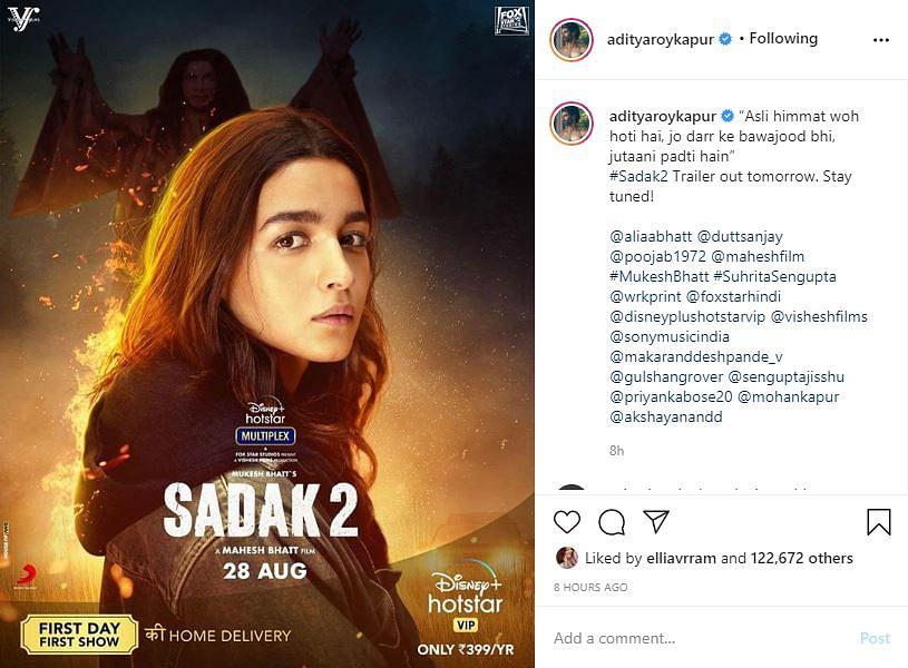 'Sadak 2' Trailer: Alia, Sanjay Embark on a Soul-Searching Journey