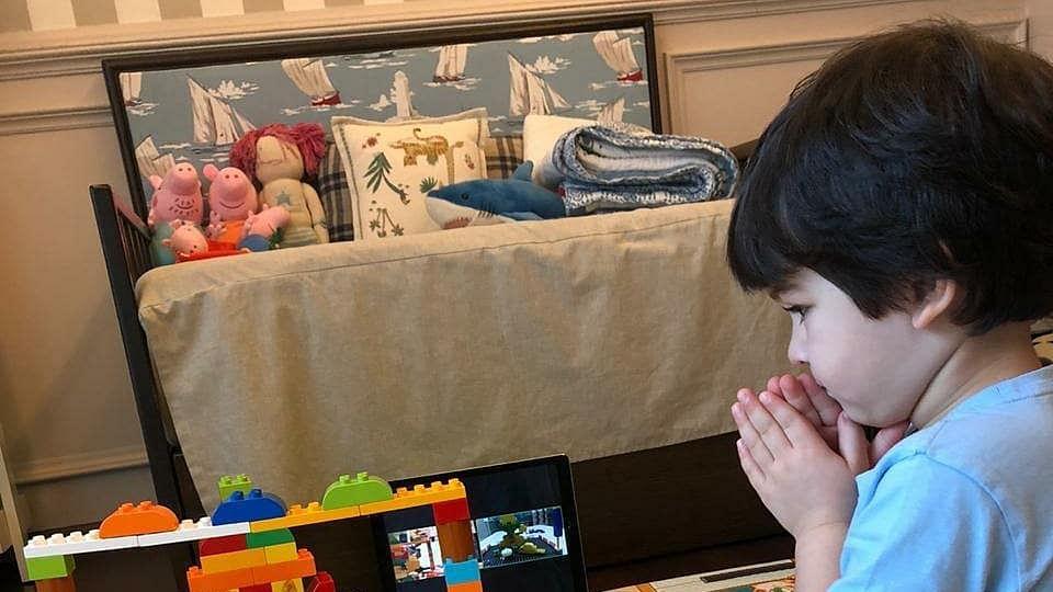 Kareena Shares Pic of Taimur Celebrating With Lego Ganpati