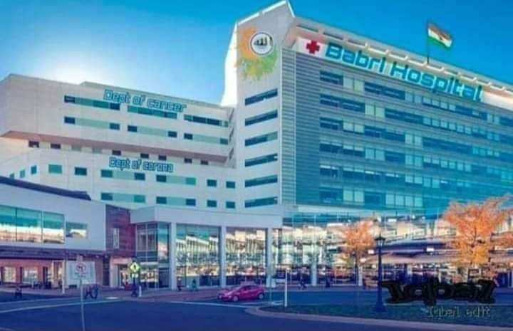 The photo of the 'Babri Hospital' doing the rounds on social media.