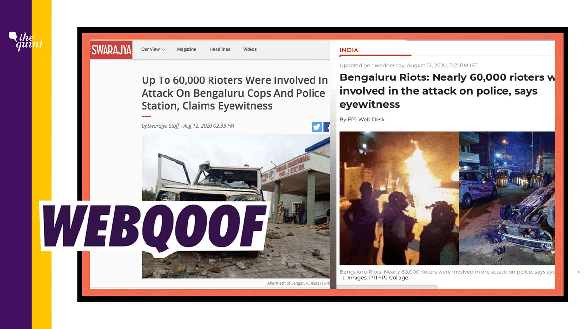 60,000 Rioters in B'luru? ANI Airs Wrong Claim, Media Amplifies It