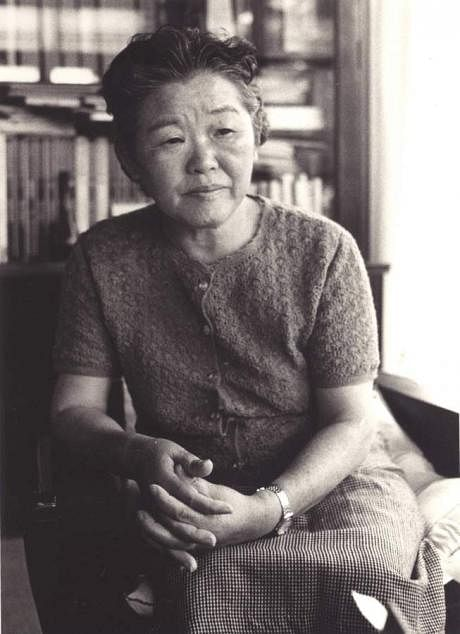 Poetess Sadako Kurihara, who was exposed to the Hiroshima blast's radiation.