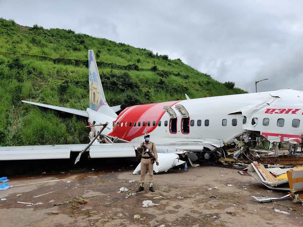 Site of Kozhikode plane crash.