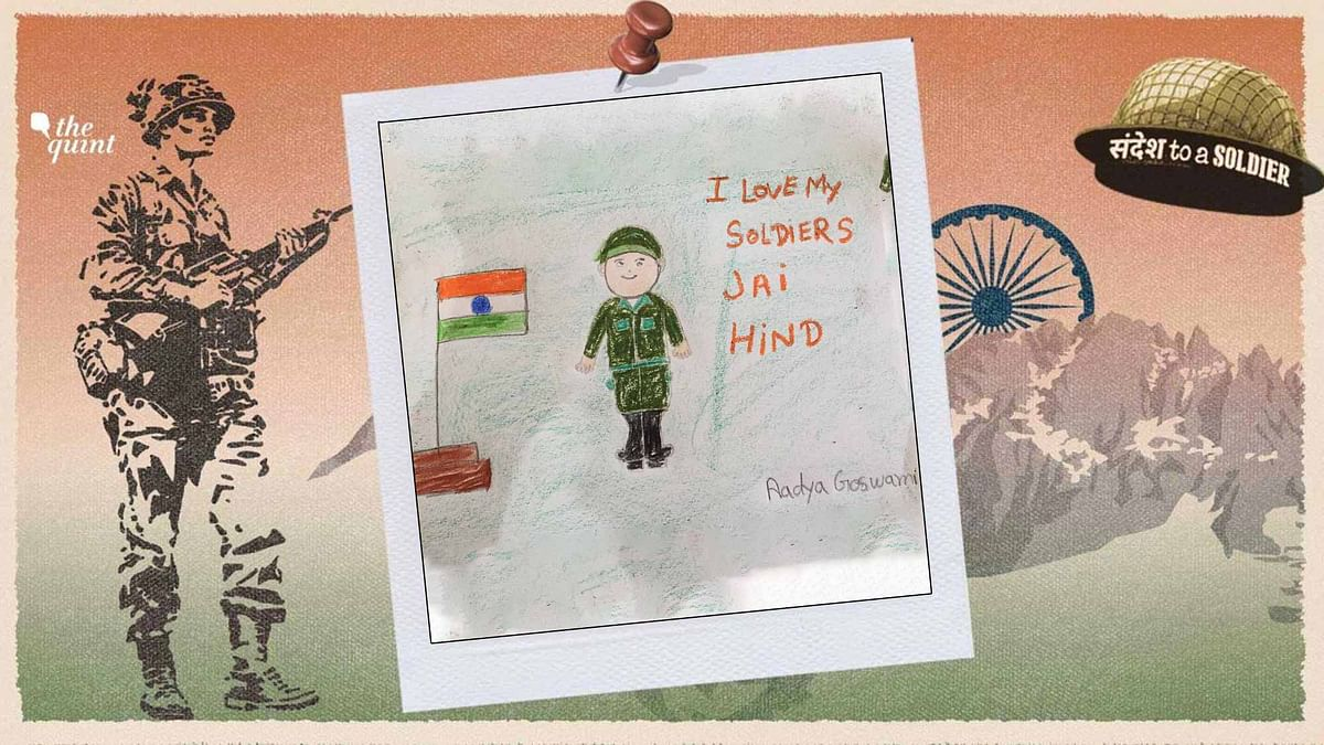 Dear Soldier, Jai Hind: Children Draw Their Sandesh To A Soldier
