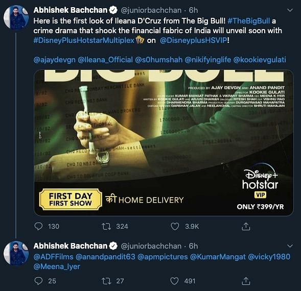 Tweet by Abhishek Bachchan