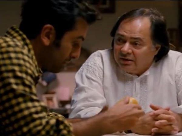 Farooq Shaikh and Ranbir Kapoor in a still from Yeh Jawaani Hai Deewani.