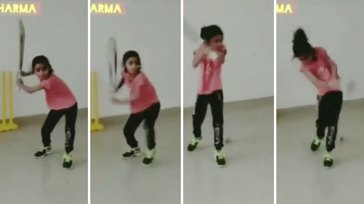 7-year-old Pari Sharma has impressed all with her helicopter shots.