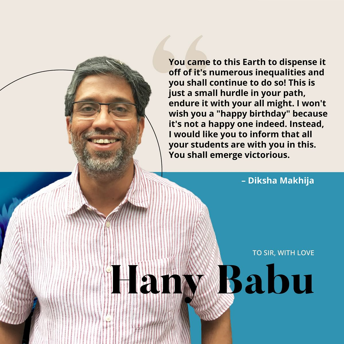 You Are Our Hero: Students Wish Jailed DU Prof Hany Babu on B'day