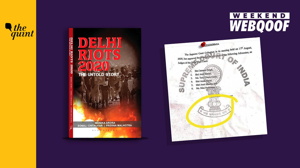 WebQoof Recap: Factual Errors in 'Delhi Riots 2020' Book & More