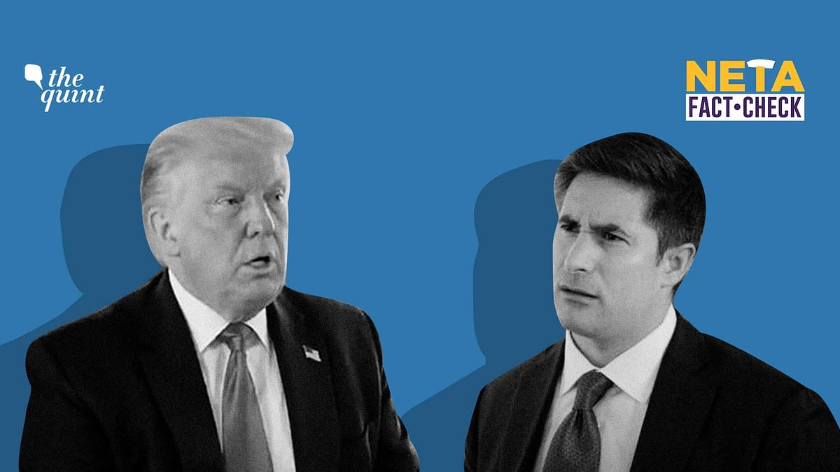 Journalist Jonathan Swan interviewed the US President Donald Trump at the White House for Axios.