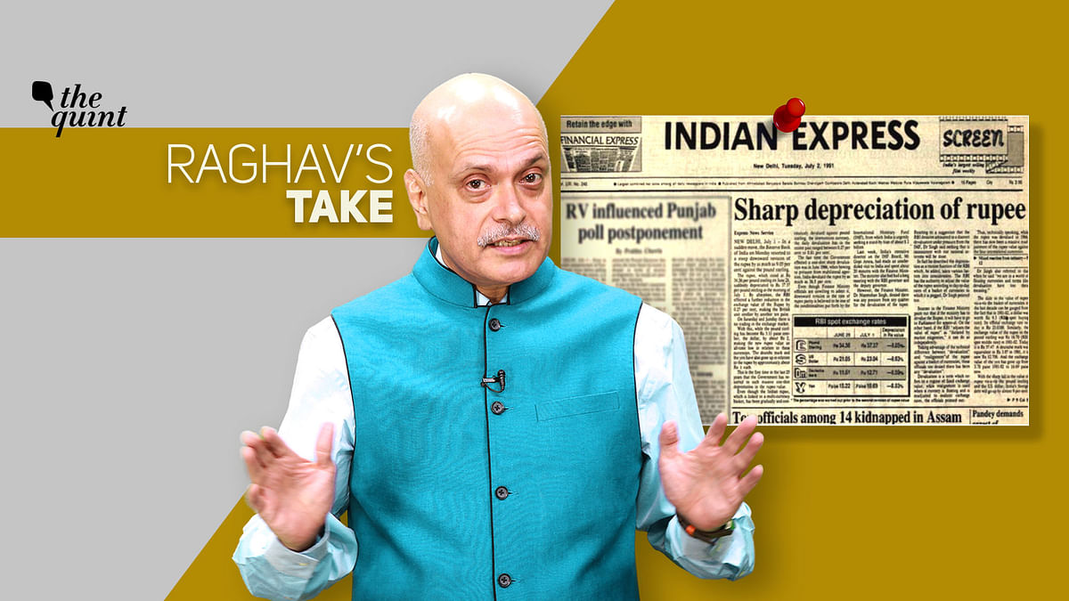 Image of The Quint's Founder-Editor Raghav Bahl, and an archival newspaper clipping from the 1991 economic crisis, used for representational purposes.