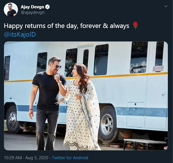 Forever & Always: Ajay Shares an Adorable B'Day Wish for Kajol