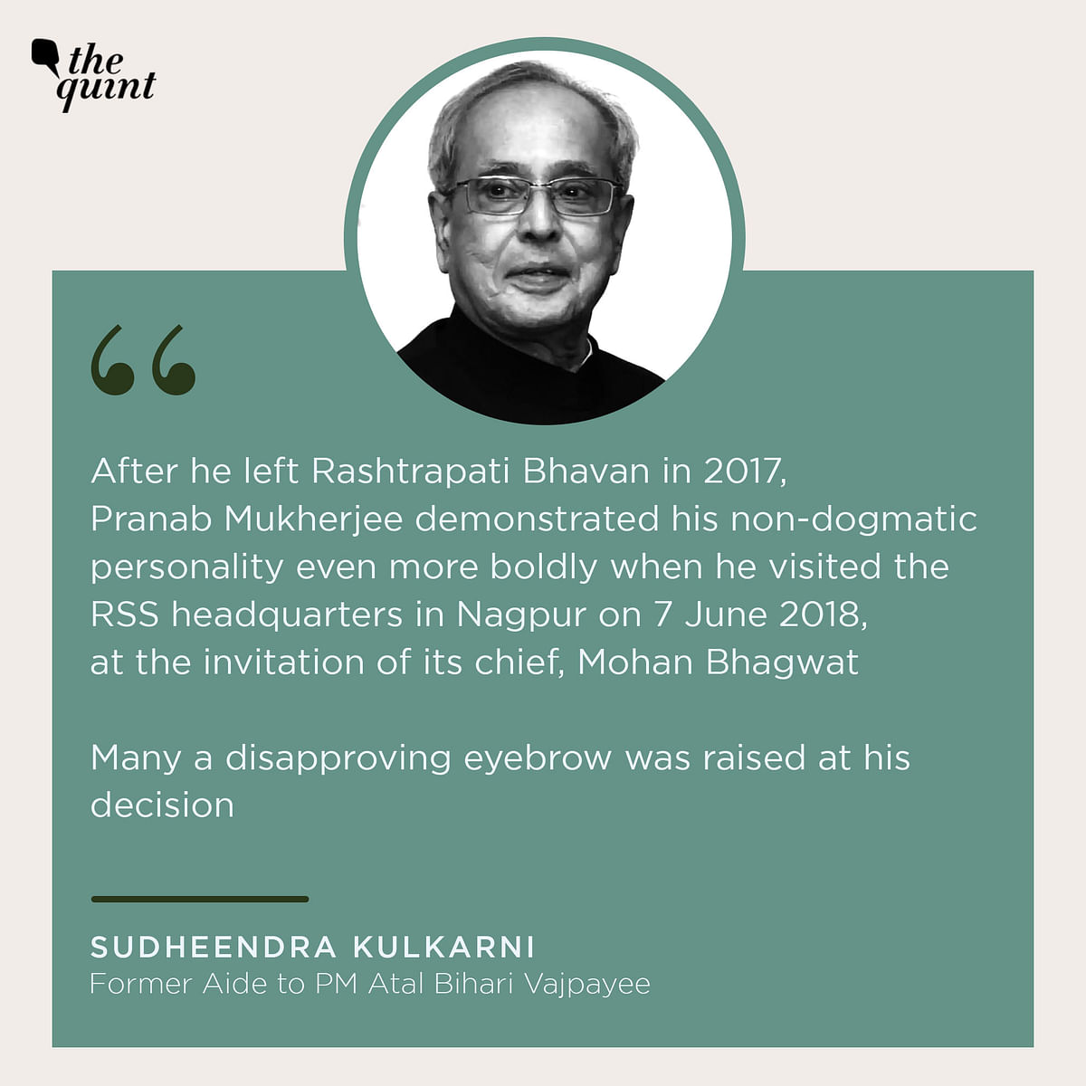 Pranab Mukherjee, India's 'Tall' Son, Was No Accidental President