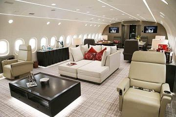 The viral image of a luxurious aircraft.