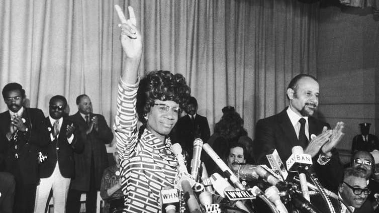 Shirley Chisholm when she announced her entry for the Democratic nomination.