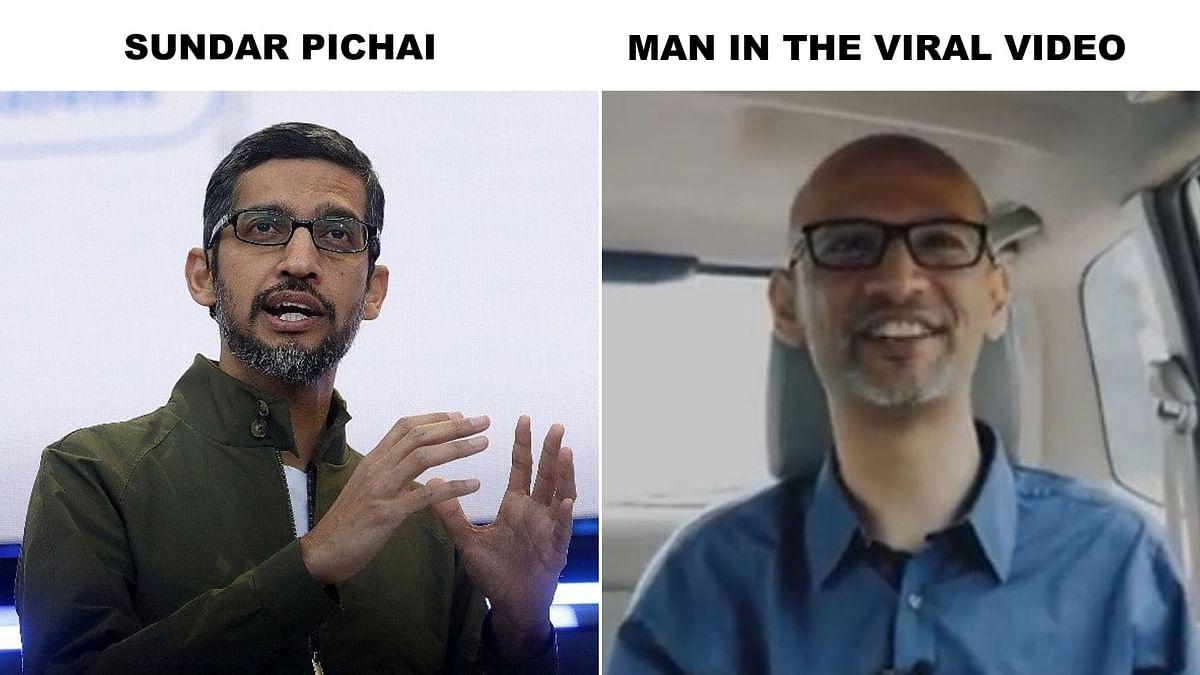 No, That's Not Google CEO Sundar Pichai Meeting His Teacher