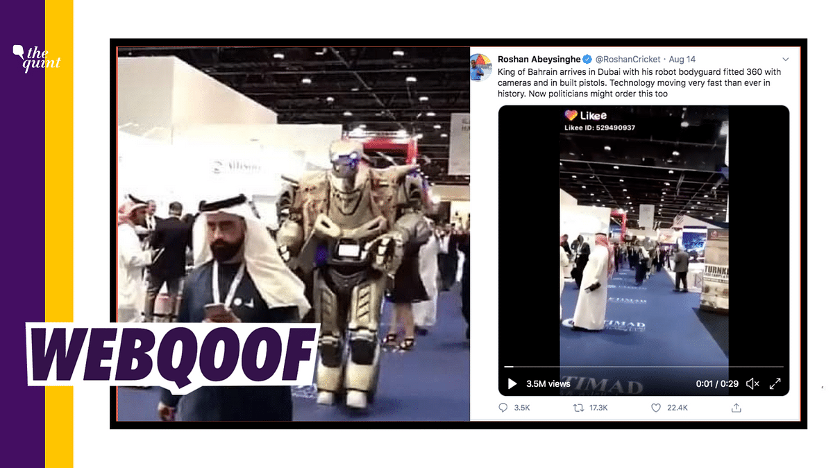 Clip of Robot at Defence Show Viral as King of Bahrain's Bodyguard