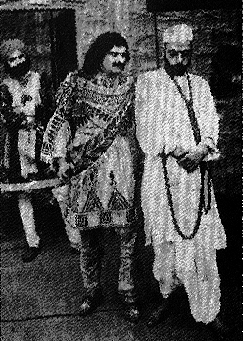 "Dwarakadas Sampat in Mahatma Gandhi-like garb as Vidur in the first Indian film to be banned, still from 'Bhakta Vidur' 1921 (""Devotion of Vidur"")."