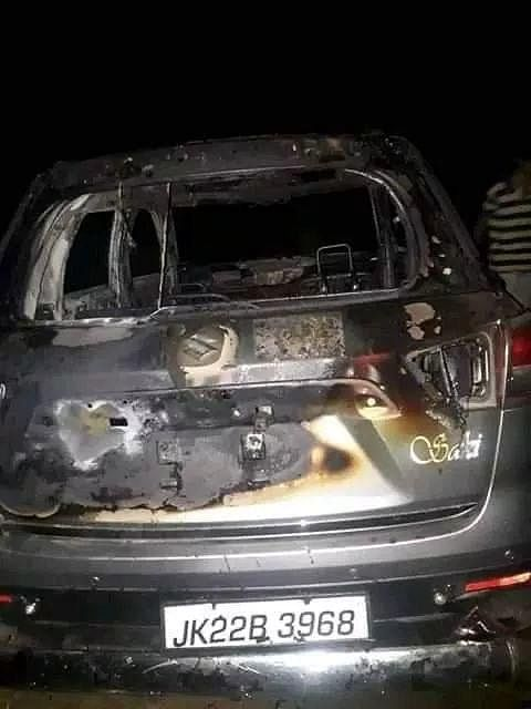 The burnt car of the jawan has been recovered.