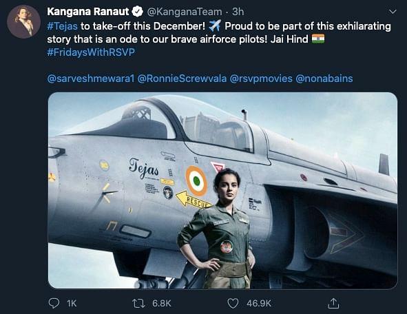 Tweet by Kangana