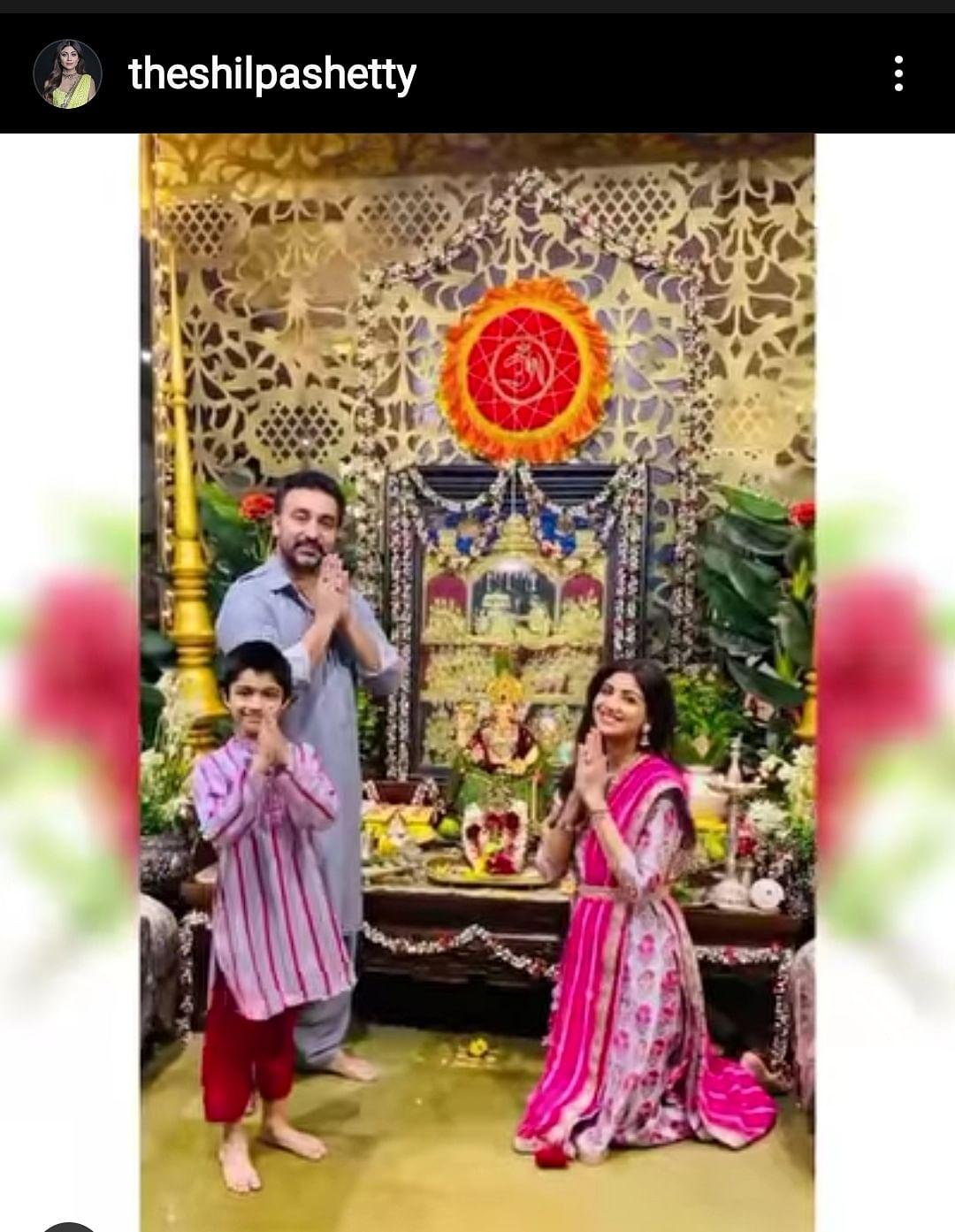 Shilpa Shetty's special ganpati celebrations.