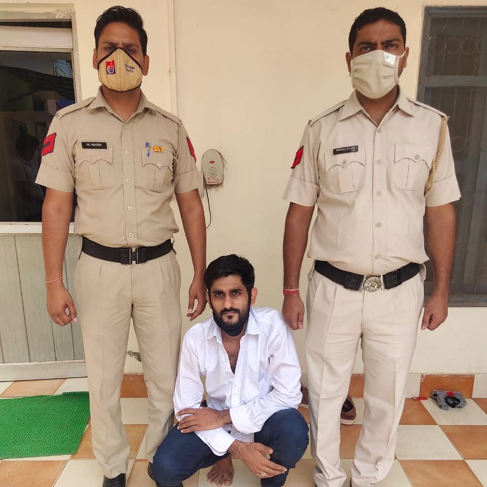 Accused Pradeep arrested in connection with the Gurugram incident.
