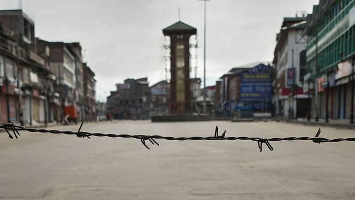 This picture of Srinagar's Lal Chowk by PTI conveys the complete lockdown in Kashmir.